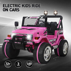 Ride On Car Kids Jeep 12V Electric Battery Remote Control MP3 LED Light Pink $169.99