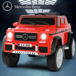 12V Electric Large Ride On Car Kids Red Mercedes Benz Remote Control MP3 LED $169.99
