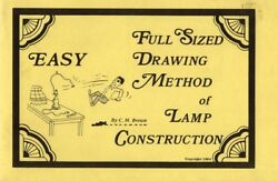 Full Sized Drawing Method Lamp Construction No Math Lamp Design Stained Glass $23.97