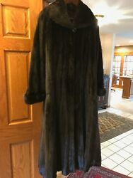 mink fur coat full length made in Italy bought in Moscow Russia size L or X