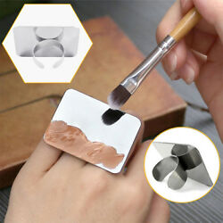Stainless Steel Finger Ring Color Palette Makeup Cream Foundation Mixing Palette