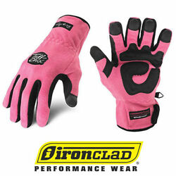 IronClad Tuff Chix SMTC Cold Weather Women#x27;s Work Gloves Pink Select Size $16.99