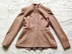 TED BAKER wool check high neck coat peplum jacket hunting riding steampunk 3 12