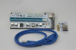 1x PCI E Riser VER 008S Express 1X to 16X USB3.0 Graphics Mining Extension Cable $6.79