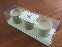 Crabtree & Evelyn Sarawak Exotic Scented Mini Candles Set of 3 Ceramic NEW inBOX $28.88