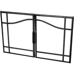 Dimplex 33-inch Swinging Glass Fireplace Doors With Black Accents