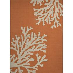 Jaipur Rugs Grant Bough Out 9 X 12 IndoorOutdoor Rug - OrangeIvory