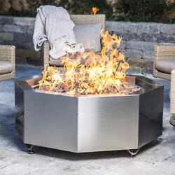 Lakeview Outdoor Designs 42-inch Stainless Steel Octagon Fire Pit - Propane