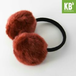 WINTER ACCESSORY Brown Pom Pom Earmuffs with Headphones for Fall