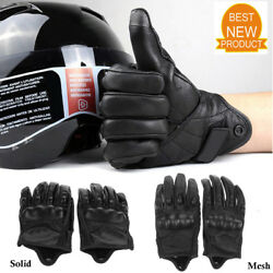 Sport Bike Racing Gloves Motorcycle Riding Protective Armor Short Leather Gloves $16.70