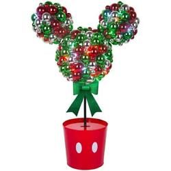 Disney Magic Holiday Mickey Mouse Multi-Color Christmas LED Topiary - 3.2-feet