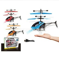 Mini RC Helicopter Drone Infrared Induction LED Light Charging Cable For kids $16.33
