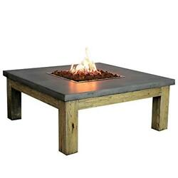 Elementi Outdoor Amish Fire Pit Table 40 x 40 Inches Liquid Propane Fire Bowl