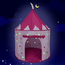 Kids Fun Indoor Outdoor Use Easy Assembly Magically Dark Glowing Stars Play Tent