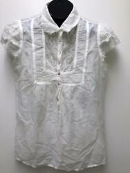 JOIE Top LITTLE QUEEN milk white porcelain peasant Blouse M  NWT sheer lace