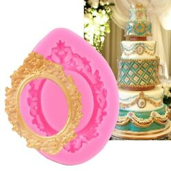 3D Silicone Fondant Frame Mold DIY Cake Decorating Chocolate Baking Mould Tools