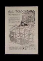 Screen House 1939 How-To Build PLANS Portable Wooden