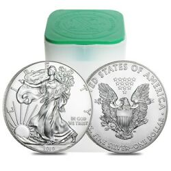 Roll of 20 - 2019 1 oz Silver American Eagle $1 Coin BU (Lot Tube of 20)