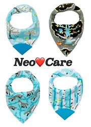 NeoCare 100% Organic Cotton Baby Bandana Bibs with Teethers Shipped from CA $4.99