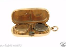 Coin Holder Rose Gold 9k Vintage. True Antique 31.8g