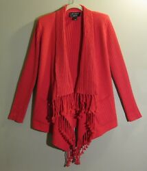 ST JOHN Exclusively for NORDSTROM 100% Cashmere PF 11 GRP 2 Open Style Sweater S