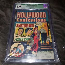 Hollywood Confessions #1 CGC 6.0 Rare Error Printed wWrong Interior Baker