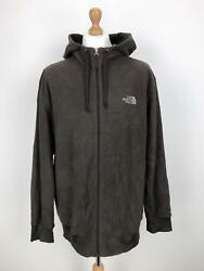 THE NORTH FACE Mens TKA 200 Fleece Jacket  Full-Zip Hooded  2XL XXL Brown