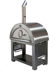 New XL Size Wood Fired Outdoor Stainless Steel Pizza Oven BBQ Grill   44