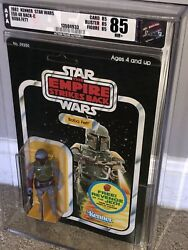 AFA 85 Kenner 1982 Star Wars ESB 48-back-Boba Fett Unpunched 85–85-85 Clear NM+
