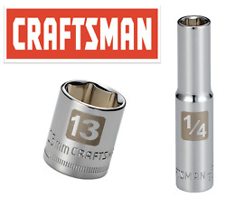 Craftsman Easy Read Socket 1 4quot; Drive Shallow or Deep Metric or Inch Choose Size $5.45
