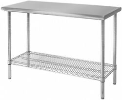 Worktable Top Commercial Stainless Steel 49in x 24in Durable Chrome Plating