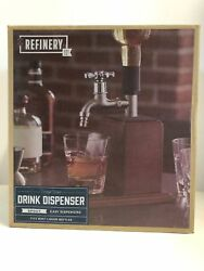 Refinery And Co Drink Dispenser Liquor Spirit Wooden Decanting Funnel Silver