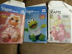 muppet sewing patterns vogue miss piggy and kermit McCalls pink panther