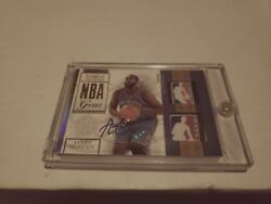 09-10 JAMES HARDEN NATIONAL TREASURES NBA GEAR LOGOMAN AUTO ROOKIE RC 9