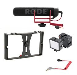Rizer Smartphone Rig with Rizer LED Light 1 Rode VideoMic Go and Cable $139.98