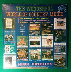 The Wonderful World Of Country Music Various Artist LP Starday SLP 270