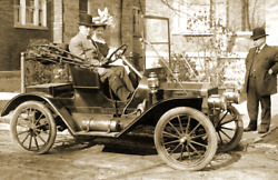 1900 The Yerxa's Out for a Drive Maine Vintage Old Photo 11