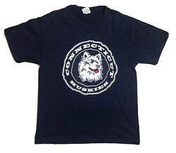 Rare Vintage 90s Uconn Huskies Graphic Tee By Champion Sportswear Size Large $29.99