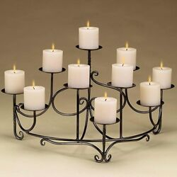 Spandrels Fireplace Wrought Iron Candelabra Fireplace Accent 27L x 16W x 14H in