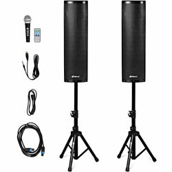 2000W Set of 2 Bi-Amplified Bluetooth Speakers PA System with 3-Channel