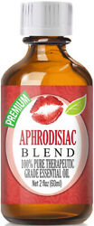 Aphrodisiac Essential Oil Blend (100% Pure & Natural) Glass Bottle + Dropper