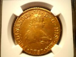 1751 Spanish Gold Coin Fernando VI Monarchy 8Escudos SO J Chile LA LUZ SHIPWRECK