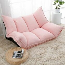 Adjustable Fabric Folding Chaise Lounge Sofa Chair Floor Couch Living Room