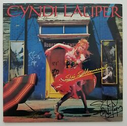 Cyndi Lauper Signed Shes So Unusual Vinyl Record Girls Just Want To Have Fun RAD