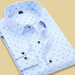Mens Dress Shirts Long Sleeves Luxury Casual Slim Fit Camisas Multicolor TC6312 $12.87