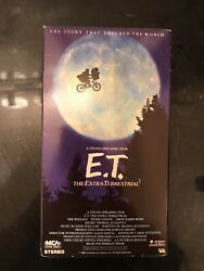 E.T. The Extra-Terrestrial (VHS) RARE Collectible Black & Green Tape