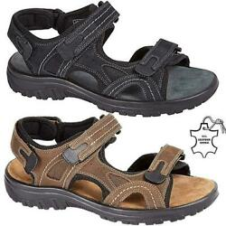 New Mens Leather Summer Sandals Walking Hiking Trekking Trail Sandals Shoes Size GBP 17.95