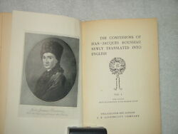 The Confession of Jean-Jacques Rousseau Newly Translated Into English Vol 1
