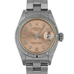Rolex 79190 P Salmon Date Box & Papers Stainless Steel Swiss Ladies Automatic