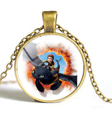 How to Train Your Dragon 3 Gold Plated Necklace pendant Toothless Jewelry Gift